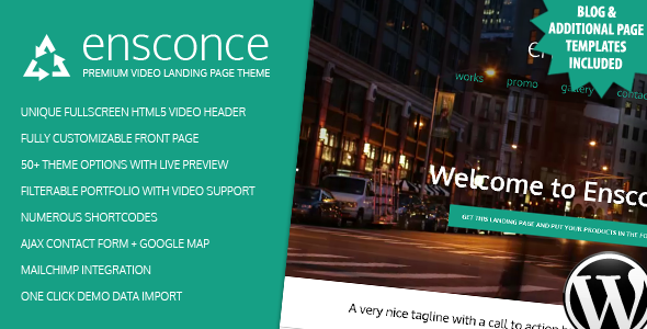 Ensconce Landing Page Template