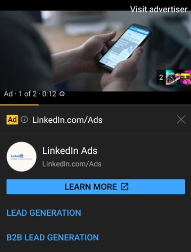 Youtube Ad Example